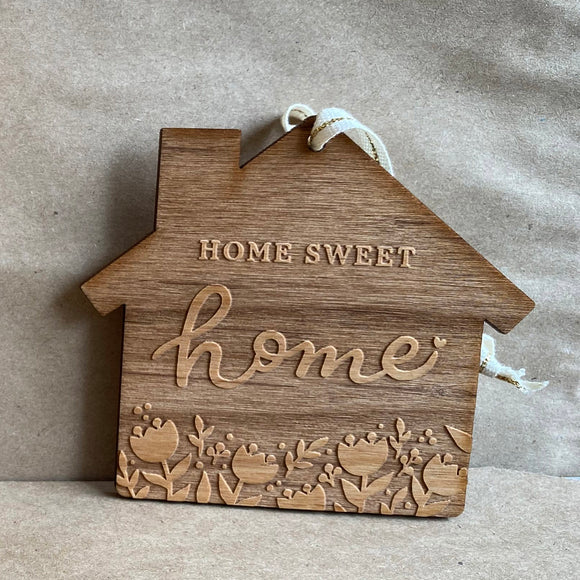 Home Sweet Home Wood Ornament