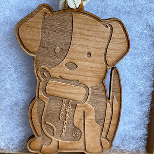 Dog  Wood Ornament