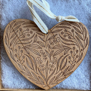 Heart Wood Ornament