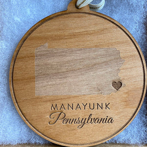 Manayunk Wood Ornament