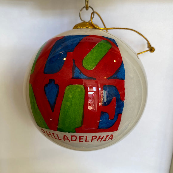 Love Philadelphia Ornament