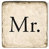 Mr. and Mrs Separate Coasters