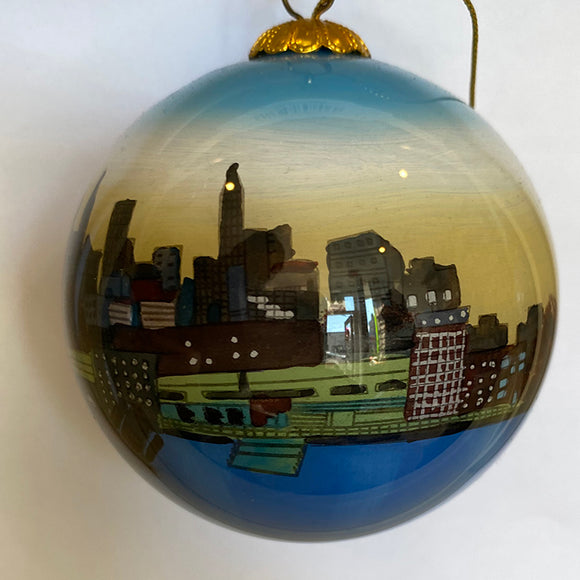 Philadelphia Skyline Ornament
