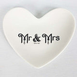 Cross My Heart Mr. and Mrs Ring Dish