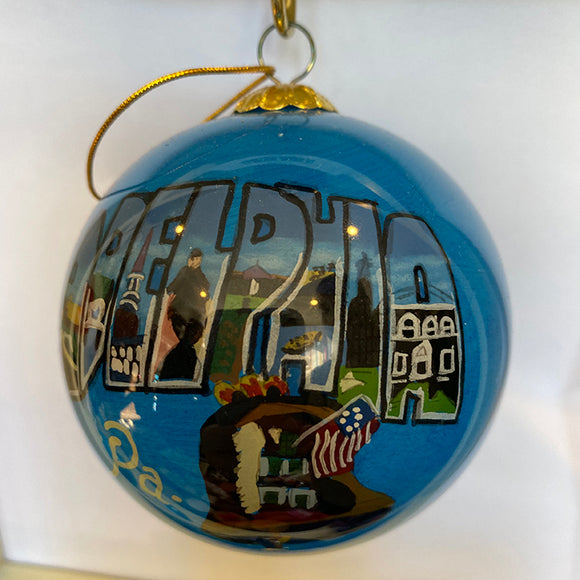 Greetings from Philadelphia Ornament