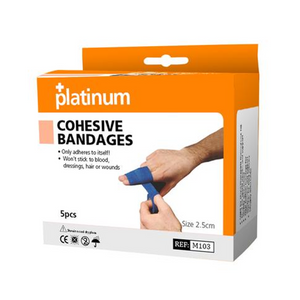 Platinum Cohesive Blue Bandages
