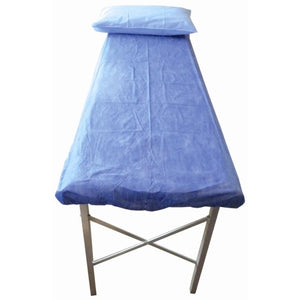 Disposable Exam Table Fitted Sheet Light Blue 187 x 70 x 10cm Box 100