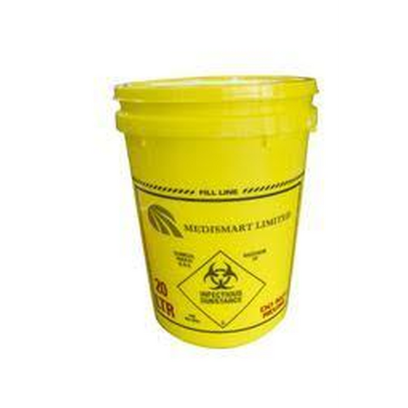 Sharps Container 20L with one way flat lid