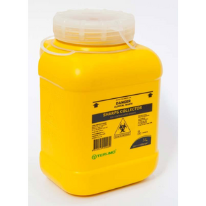 St John Sharps Container with Screw Lid 3L