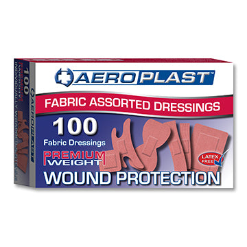 Aeroplast Fabric Assorted Shape Plasters