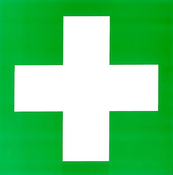 First Aid Cross Sticker for Cabinet