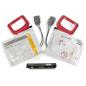 Lifepak CR Plus Defibrillator Battery Charge Pack (Includes 2 Sets of electrodes)