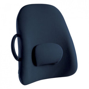 Obusforme Low Back Rest Support Cushion 53cm x 45cm Navy