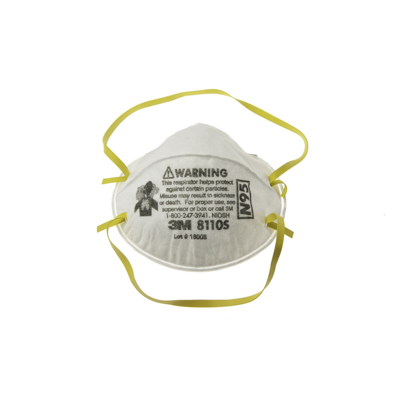 3M Disposable N95 Particulate Respirator Each (8110S)
