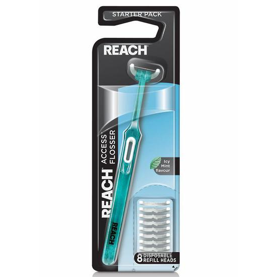 Listerine Reach Flosser Clean Paste Starter Pack 8