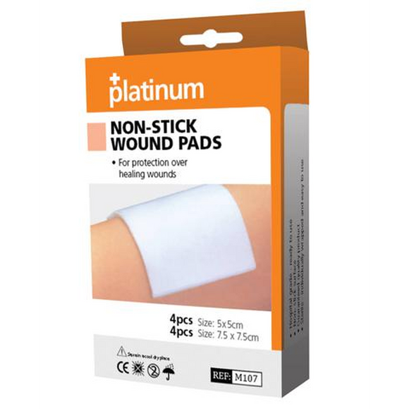 Platinum Non-Stick Wound Pads (8 Pack)