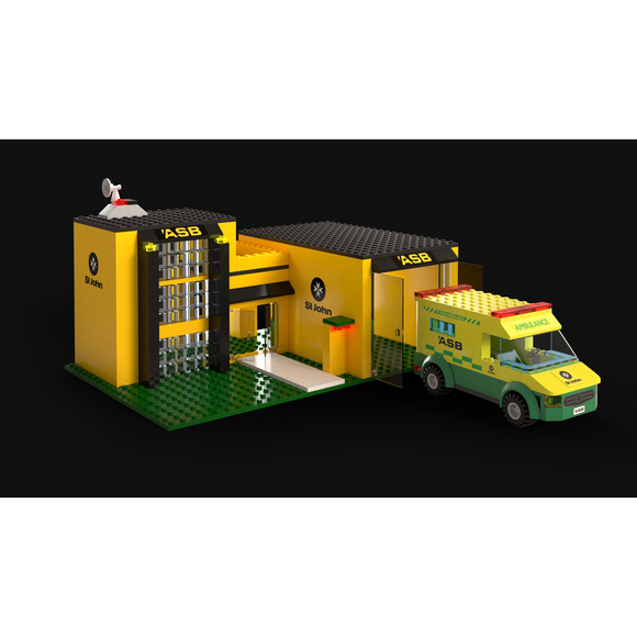 St John 400 Piece Ambulance Block Set