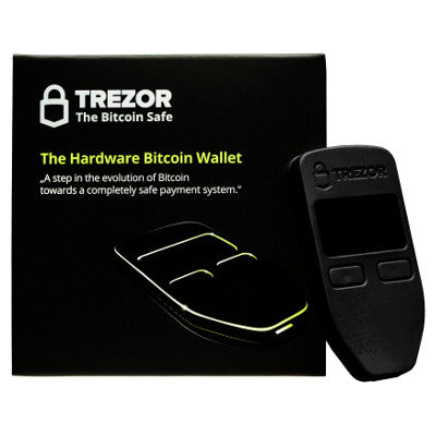 Trezor Cryptocurrency Hardware Wallet - Black