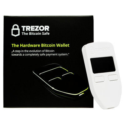 Trezor Cryptocurrency Hardware Wallet - White