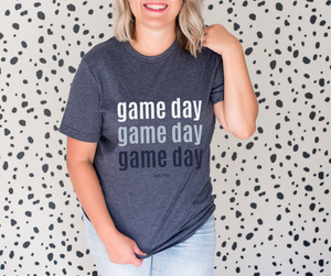 Stadium Tee (Navy and White) - The Fly Fox Apparel