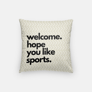 Welcome Pillow (Sports, Football)