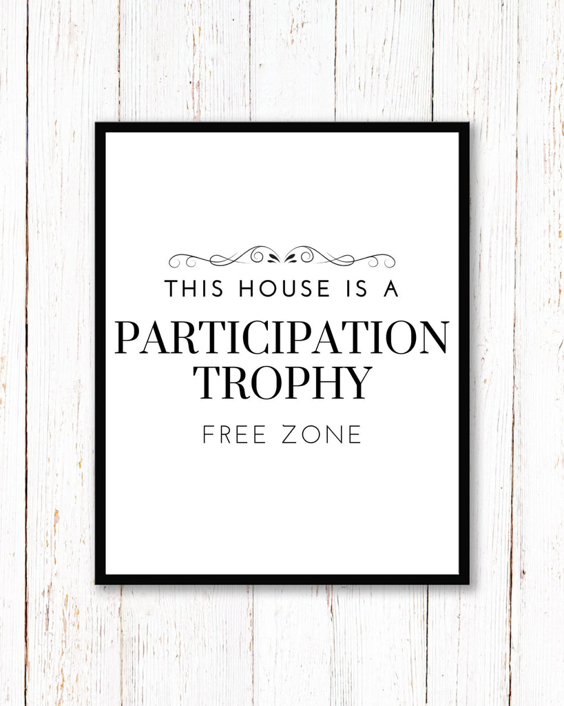 Participation Trophy PRINTABLE