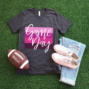 Game Day Pink Color Block Tee