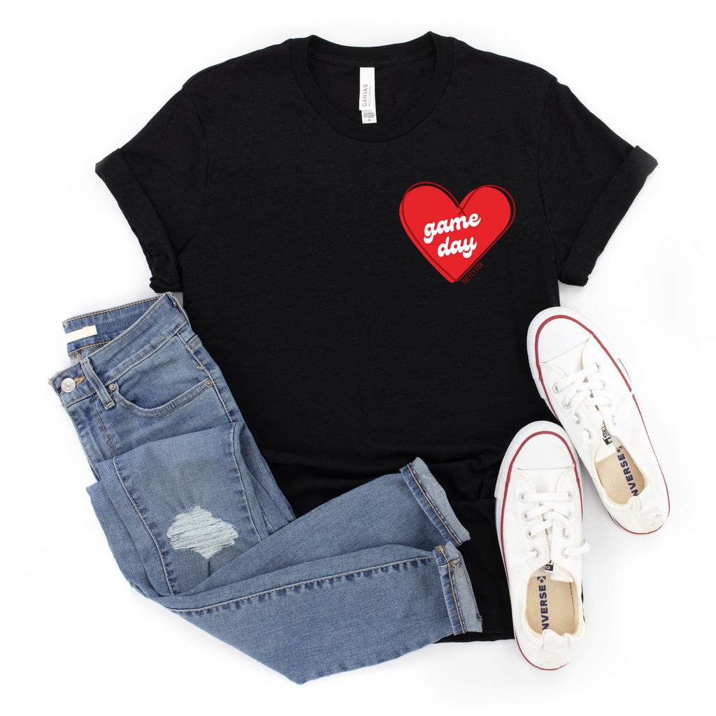 Game Day Love Tee (Black, Grey)