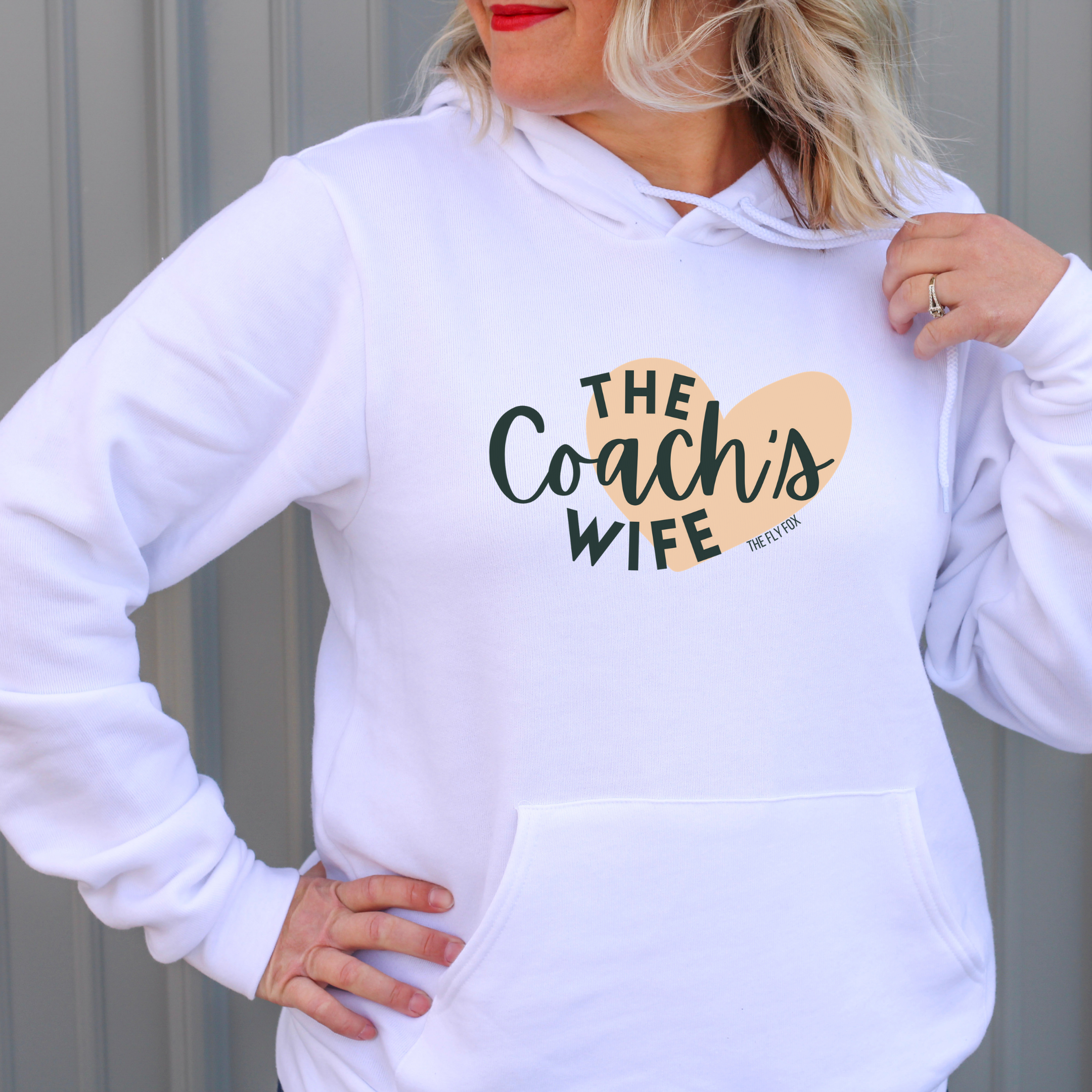 The Heart of a Coach's Wife Hoodie - The Fly Fox Apparel