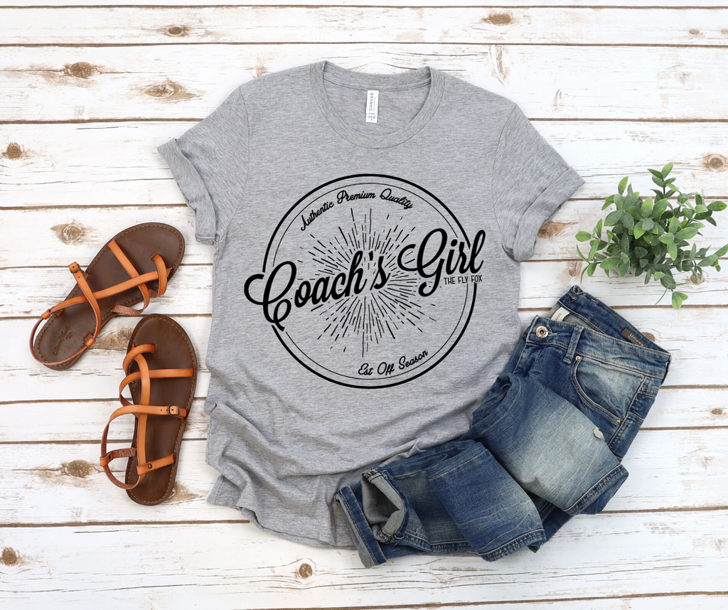 Coach's Girl Vintage Label Grey Tee