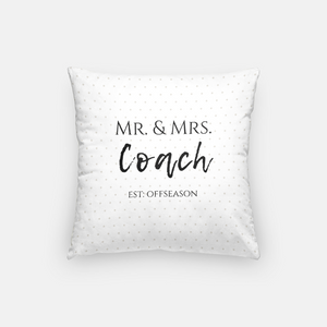 Mr. and Mrs. Coach Pillow