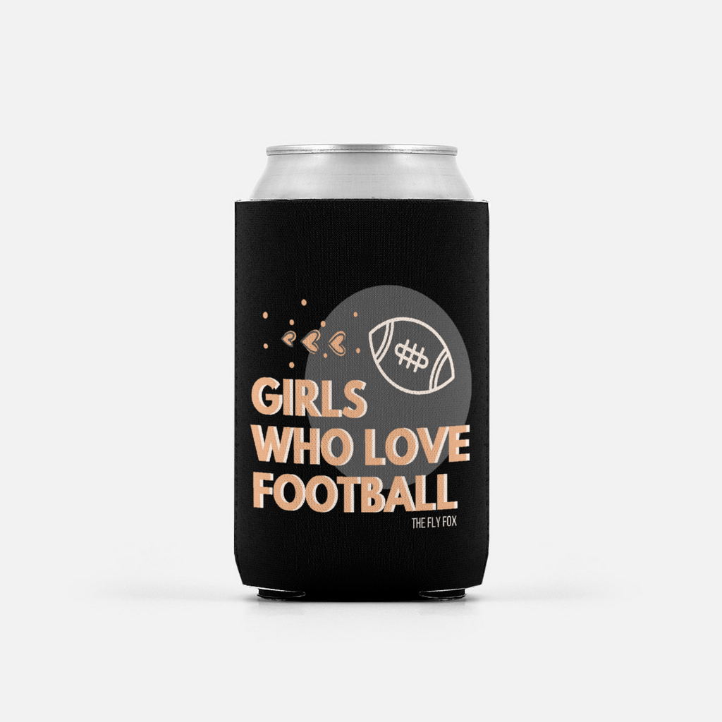 Girls Who Love Football Summer Coozie