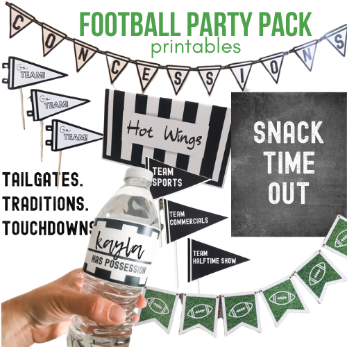 Football Party Decor Printables