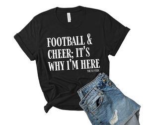 Football and Cheer Tee - The Fly Fox Apparel