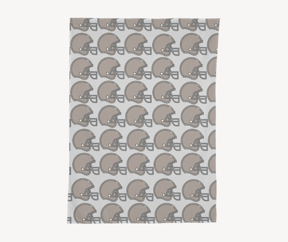 Football Helmet Swaddle Blanket
