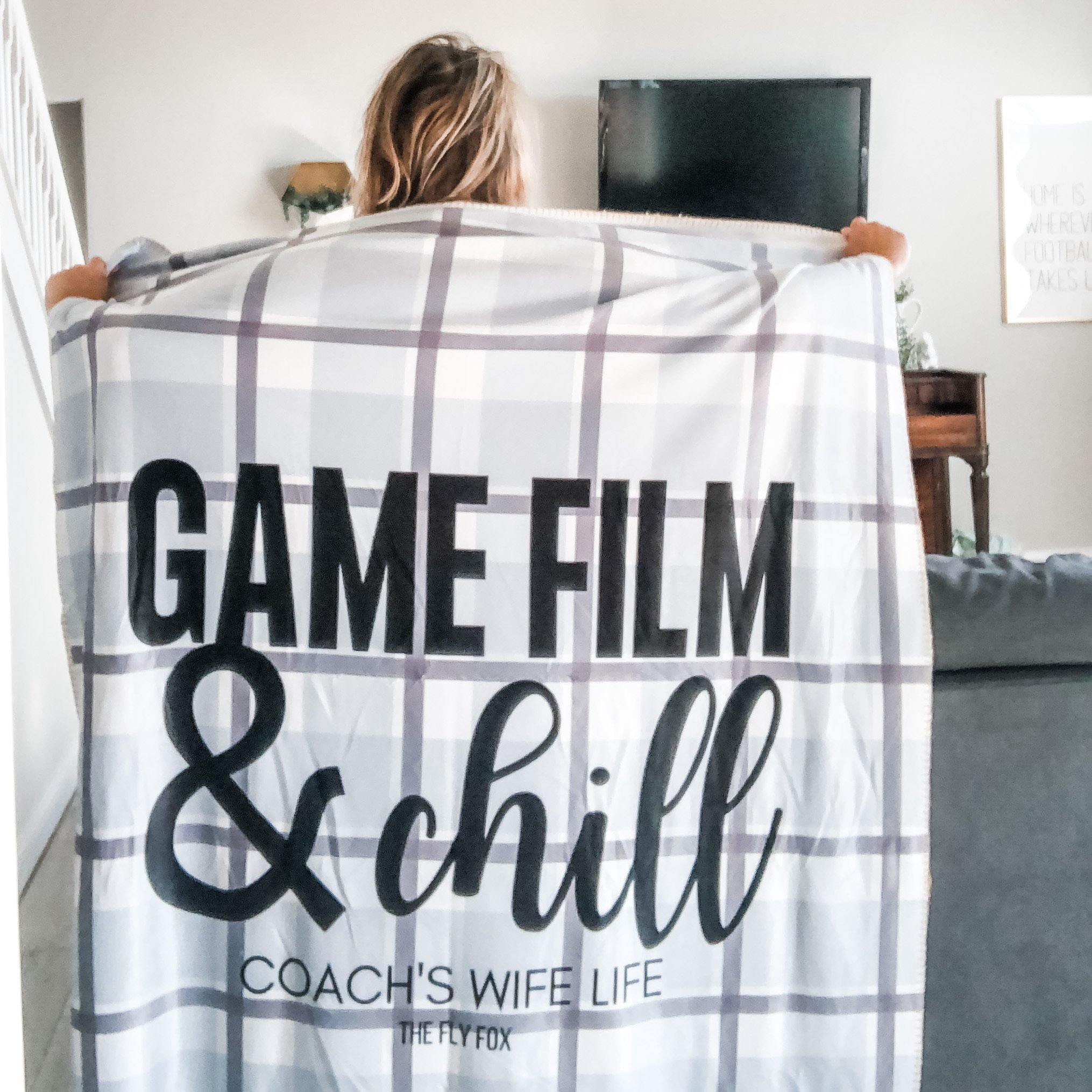 Game Film & Chill Sherpa Blanket