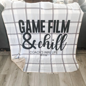 Game Film & Chill Sherpa Blanket - The Fly Fox Apparel