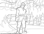 Printable Disney's Frozen Kristoff Coloring Page