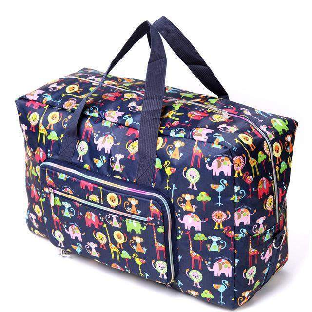 24 colors High Quality Folding Travel Bag Large Capacity Waterproof Printing Bags Portable Women's Tote Bag Dog rainb Travel Bag - BagPrime - Look Your Best with Amazing Bags