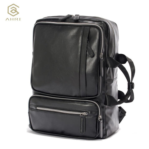 AHRI Edgy Military Leather Backpack - BagPrime - Look Your Best with Amazing Bags