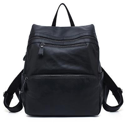AMINOU Edgy Leather Backpack for Women - BagPrime - Look Your Best with Amazing Bags
