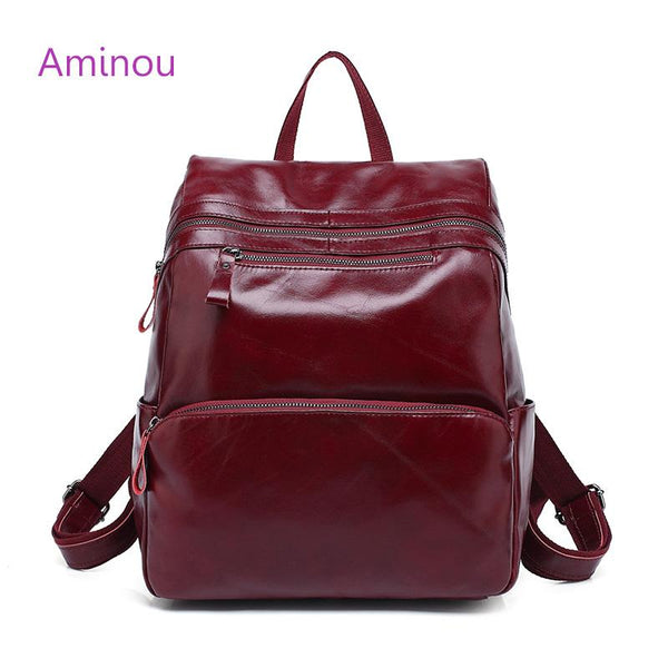 07257c1926e9 AMINOU Edgy Leather Backpack for Women - BagPrime - Look Your Best with Amazing  Bags ...