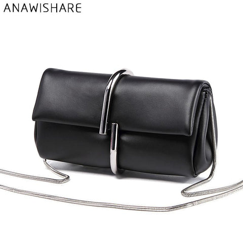 ANAWISHARE Classy Leather Clutch - BagPrime - Look Your Best with Amazing Bags