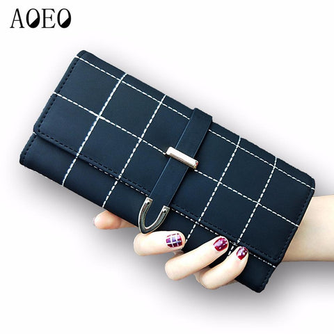 AOEO Checkered Long Wallet - BagPrime - Look Your Best with Amazing Bags