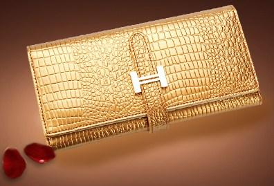 AOEO Crocodile Patterned Wallet - BagPrime - Look Your Best with Amazing Bags
