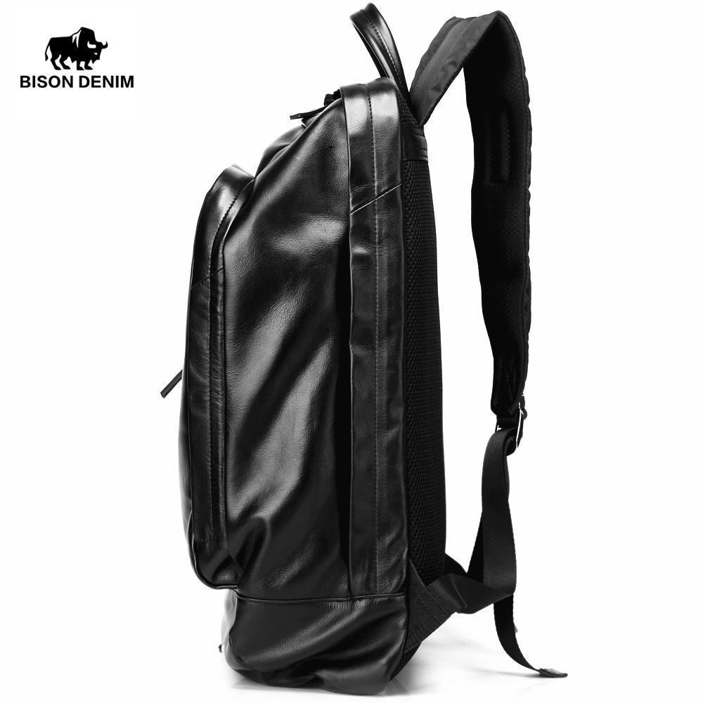 BISON DENIM Designer Leather Backpack - BagPrime - Look Your Best with Amazing Bags