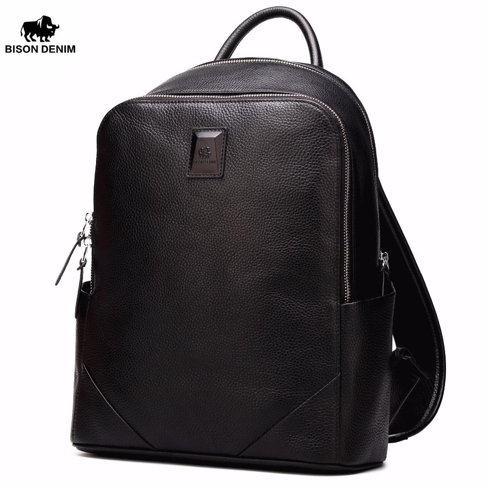 BISON DENIM Leather Backpack - BagPrime - Look Your Best with Amazing Bags