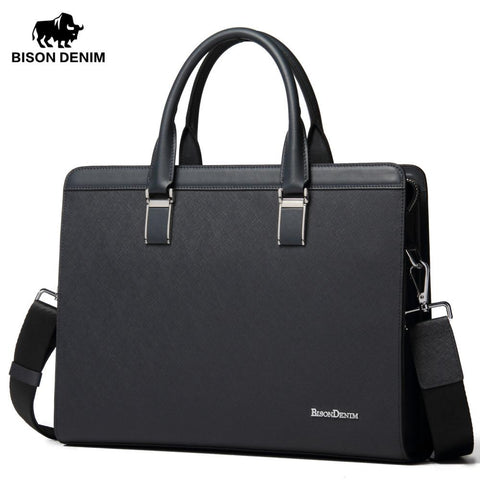 BISON DENIM Modern Classic Briefcase - BagPrime - Look Your Best with Amazing Bags