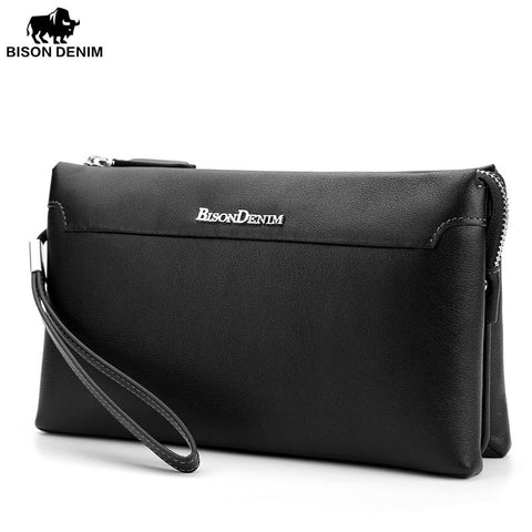 BISON DENIM Modern Classic Men's Clutch - BagPrime - Look Your Best with Amazing Bags