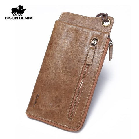 BISON DENIM Rustic Leather Wallet - BagPrime - Look Your Best with Amazing Bags